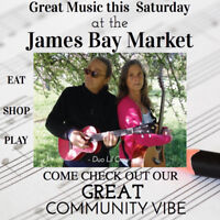 Great Music this weekend at the James Bay Market