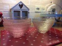 A set of 6 glass dessert bowls