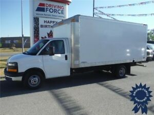 2015 GMC Savana 3500 - 16ft Cube Van - CVIP - Cruise - Pwr Locks
