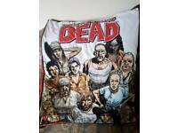 Walking dead fluffy handmade blanket