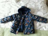Cath Kidston boys space print padded coat, size 3-4