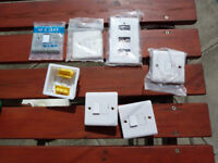 Mix of Brand New electrical fittings - switched, unswitched, faceplates etc!