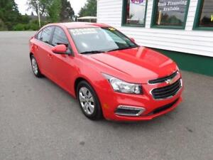 2015 Chevrolet Cruze 1LT for only $133 bi-weekly all in!