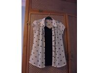 LADIES SIZE 8 VEST TOP AND SHIRT