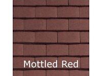 Sandtoft Concrete Plain Tiles & Fittings in Mottled Red Granular
