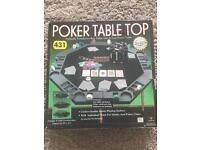 Table top poker set