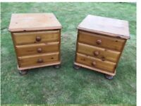 PINE NIGHTSTANDS / DRAWER UNITS