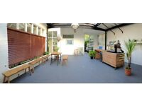 Beautiful workshop space to rent or for hire on Hampstead Heath - Yoga/Art classes, Teaching space