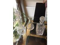 3 Crystal decanters