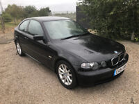 54 plate 2004 BMW 3 series Compact coupe Automatic LOW mileage NEW MOT 316ti ES not 318 320 325 330