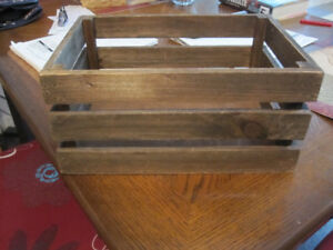 WOODEN BOX,  NICELY CONSTRUCTED, GREAT FOR MULTIPLE FUNCTIONS!
