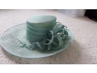 Turquoise / mint / green / jade ladies wedding / races hat