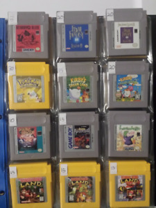 Selling Gameboy & Gameboy Colour Games