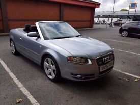 AUDI A4 S LINE TDI CONVERTIBLE 6 SPEED VERY LOW MILEAGE FSH