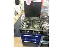 LEISURE 55CM ALL GAS COOKER IN BLUE WITH LID