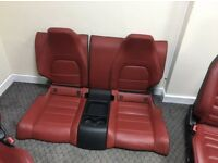 C63 AMG Coupe Interior (red, mercedes, seat, bucket seat)