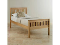 Solid Oak Single Bed - Very Good Condition