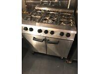 Falcon Dominator Latest 6 Burner LPG Gas Range Commercial Cooker Large Oven