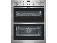 Neff Stainless Steel Electric Double Oven U17M62N0GB (Built In/Built Under)