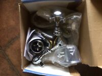 Victorian style basin miver taps. New and boxed.