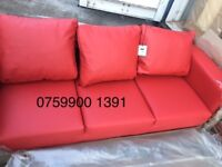 - BRAND NEW = Leather 3+2 Complete SOFA SET == 4 Colours in stock ** SAME DAY DELIVERY ** CALL NOW !