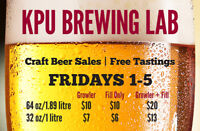 KPU Brewing Craft Beer Fills & Free Tastings this Friday!