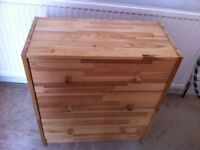 Small Ikea Pine Chest of Drawers