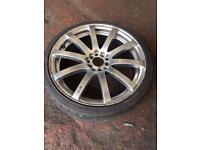 "Kei Racing 18"" multi fit alloy wheels - mk4 golf, Subaru, skyline"