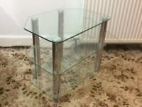 Glass TV table for sale £10