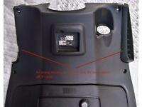 Aprilia SportCity Glovebox - inner leg cover plastic door BLACK good condition with light scratch
