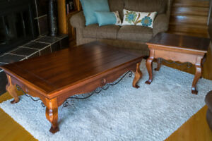 Coffee table with one end table.  Very good condition.