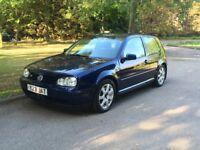 VW VOLKSWAGEN GOLF V6 4 MOTION 2.8 PETROL 6 SPEED MANUAL 3DR HATCHBACK 2001 [Y] BLUE