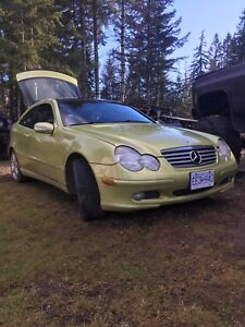 2003 Mercedes C230 kompressor  supper charged