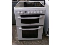 6 MONTHS WARRANTY Indesit 60cm, double ovne electric cooker FREE DELIVERY