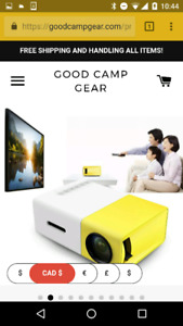 "Pocket size LED projector 220"" screen. USB AUX HDMI"