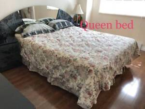 Moving Sale -Queen bed & 2 Double bed frame + mattress + box set