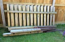 Picket fence and posts