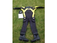 Body Glove dry suit with fins
