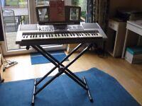 Yamaha PSR-295 Portatone 61-key Musical Keyboard with stand