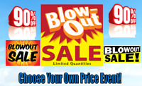 Blowout Clearance Sale! Auctioning Items Out! MEGA PRICECUT!