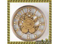 Hometime Gold Wall Clock