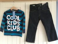 Boys age 2-3 Gap jeans and F&F top