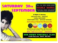 SATURDAY 30th SEPTEMBER - 60s 70s SOUL / REGGAE / MOTOWN with DOUBLE BARREL - BATH