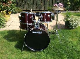 Mapex Tornado drum kit in red