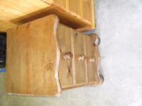 pine bedside locker