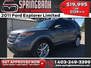 2011 Ford Explorer Limited w/Leather, Sunroof, Navi $139B/W INST