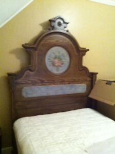 Antique Stenciled and Hand painted Bedroom Suite