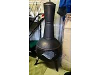 Chimenea large brand new never used in Bronze Effect Flama mesh surround