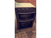 Hotpoint BD31 integrated double oven. Perfect gunmetal grey/black. Only been used a few times