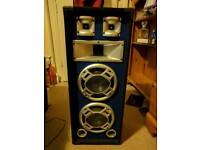 Pair of Skytec 8inch Dual Passive 3-way DJ PA Home Audio speakers 600W